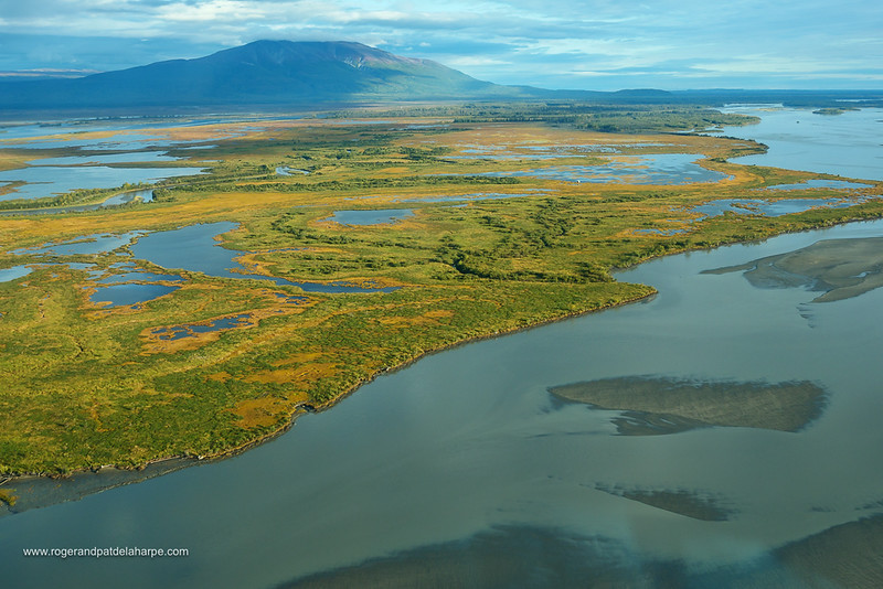 Aerial view of Mount Susitna. South Central Alaska. United States of America (USA).