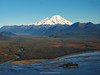 Aerial view of Mount Iliamna (or Iliamna Volcano) and Chisik Island South Central Alaska. United States of America (USA).