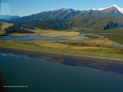 Aerial view of South Central Alaska. United States of America (USA).
