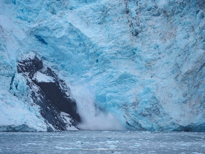 Barry Glacier calving. Barry Arm. Prince William Sound. Near Whittier. Alaska. United States of America.
