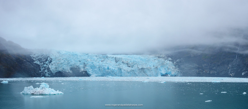 Surprise Glacier, Surprise Inlet, Harriman Fiord. Prince William Sound. Near Whittier. Alaska. United States of America.