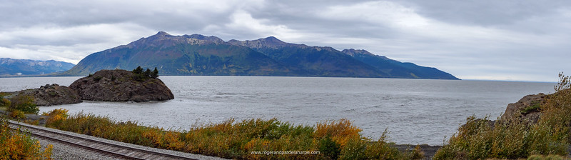 View of Turnagain Arm from Bird Point. Near Anchorage. Alaska. United States of America
