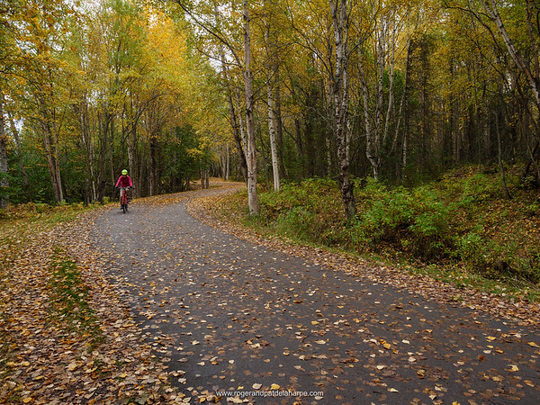 Cycling on The Tony Knowles Coastal Trail. Anchorage. Alaska. United States of America