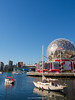 Geodesic dome of Science World at TELUS World of Science. False Creek. Vancouver. British Columbia. Canada.