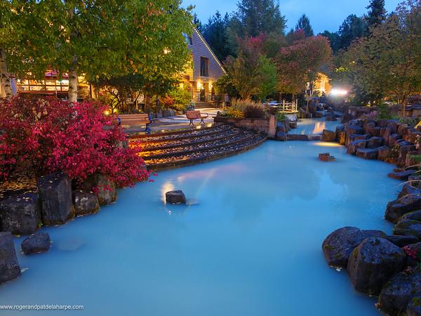 Evening scene. Whistler. British Columbia. Canada.