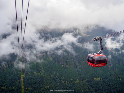 View from the Peak to Peak Gondola. Whistler. British Columbia. Canada.