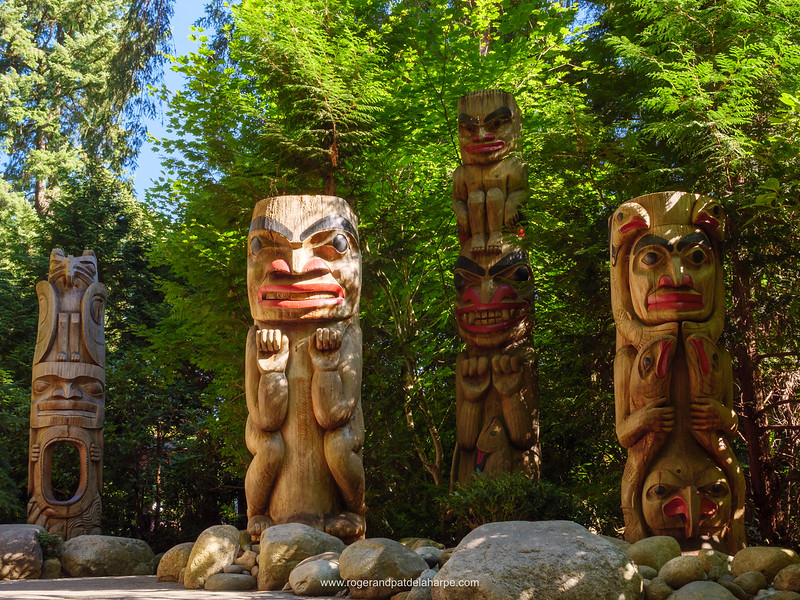 Totem Poles. Capilano Suspension Bridge Park. Vancouver. British Columbia. Canada.