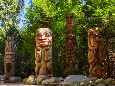 Totem Poles. Capilano Suspension Bridge Park. Vancouver. British Columbia. Canada.