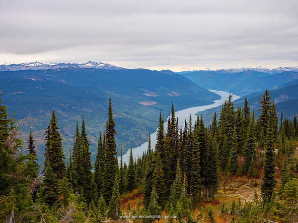 View of the Columbia River from Mount Revelstoke. British Columbia. Canada.