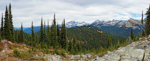 View from the top of Mount Revelstoke. British Columbia. Canada.