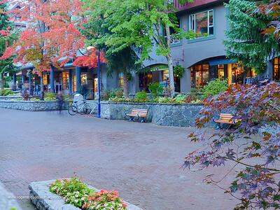 Street scene. Whistler. British Columbia. Canada.