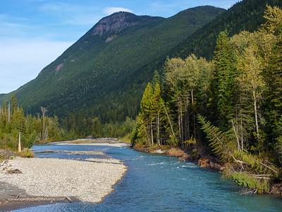 Illecillewaet River near Revelstoke. British Columbia. Canada.
