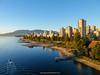 View of English Bay shoreline. Vancouver. British Columbia. Canada.