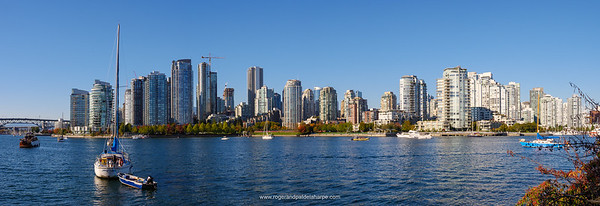 View of city and False Creek. Vancouver. British Columbia. Canada.