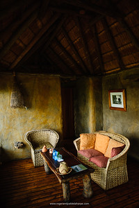 Bedroom interior at Mapula Lodge. Okavango Delta. Botswana