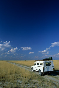 Scene at Nata Sanctuary, part of Sowa Pan at the Makgadikgadi Pans. Botswana.