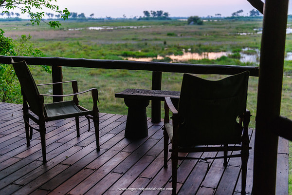 Bedroom deck at Selinda Camp. Eastern Selinda Spillway. Selinda Reserve. Northern Botswana.