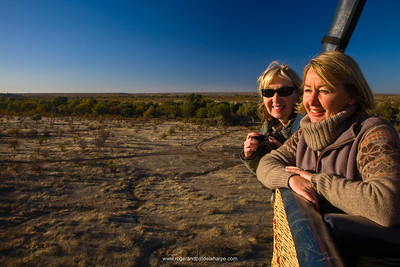 Balloon Flight. Nitani Game Reserve. Northern Tuli Game Reserve.  Botswana
