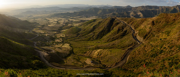 View from Lalibela into the valleys. Ethiopia.