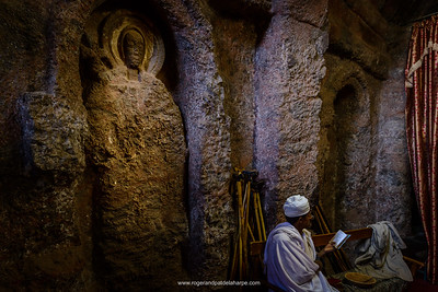 Bet (or Biet) Golgotha Rock-Hewn Church interior. Lalibela. Ethiopia.