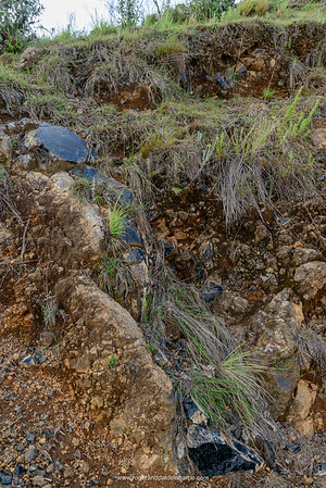Obsidian intrusion. Naivasha. Great Rift Valley. Kenya