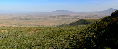 Great Rift Valley escarpment. Kikuyu Escarpment.  Kenya