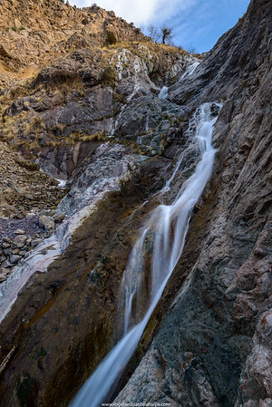High Atlas Mountains. Waterfall near Imlil. Morocco.