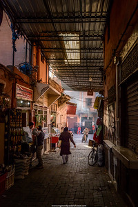Souk scene. Marrakesh or Marrakech. Morocco
