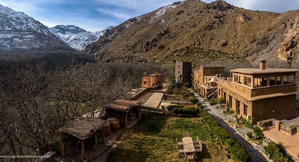 Kasbah du Toubkal lodge. High Atlas Mountains. Imlil. Morocco.