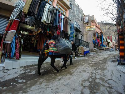 Street scene. Imlil. Morocco.