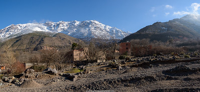 Scenic view. High Atlas Mountains. Imlil. Morocco.