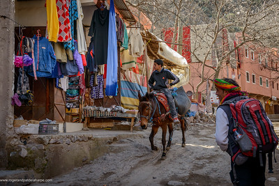 Street scene. High Atlas Mountains. Imlil. Morocco.