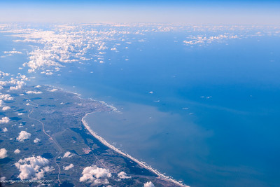 Aerial vie of El Jadida and coastline. Morocco