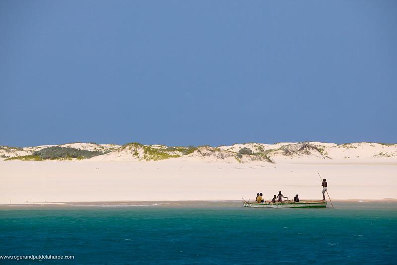 Fishermen on the northern point of Benguerua Island. Mozambique