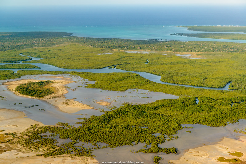 Aerial views of costline and mangrove to the noth of Pemba. Mozambique