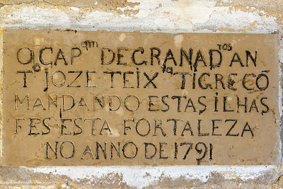 Inscription on the old fort. Ibo Island. Mozambique