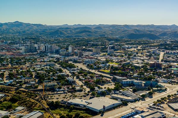 Aerial view. Windhoek. Namibia