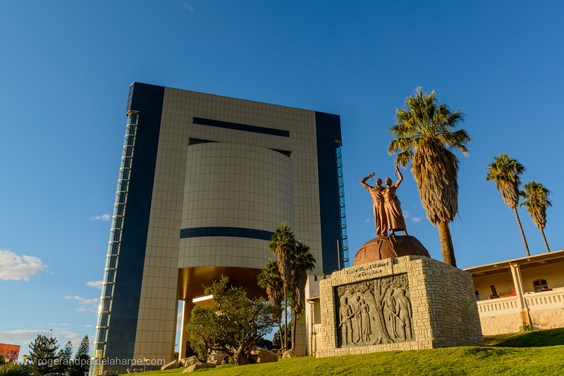 The Independence Memorial Museum and Genocide Statue. Windhoek. Namibia