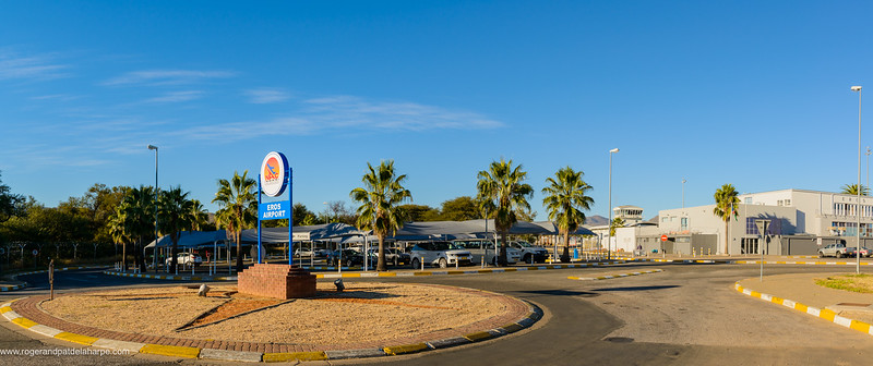 Entrance to Eros Airport. Windhoek. Namibia
