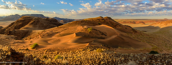 Desert scenery and dunes (dune). Sossusvlei. Namib-Naukluft National Park. Namibia