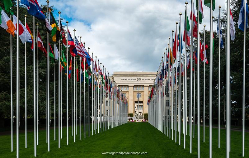 United Nations building, Geneva. Switzerland