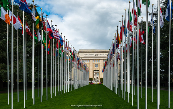 United Nations building, Geneva. Switzerland