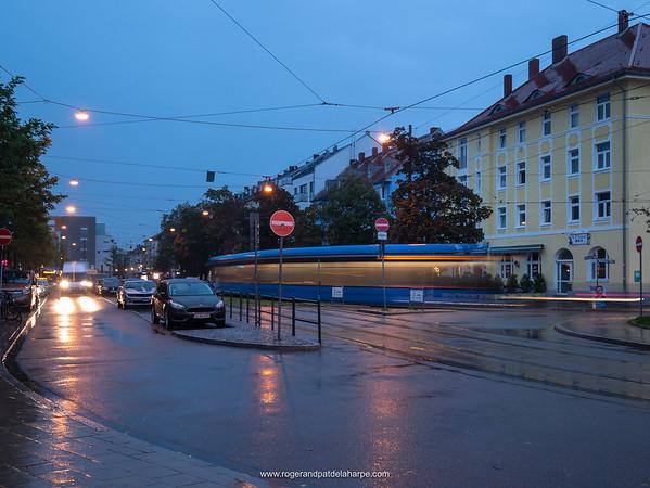 Moosach  street scene. Munich. Bavaria. Germany