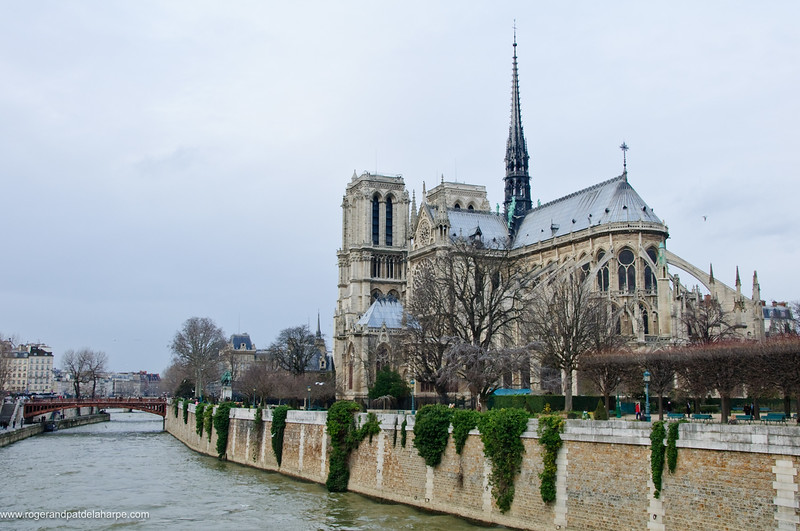 Notre Dame Cathedral on Ile de la Cite or City Island in the Seine River. Paris. France