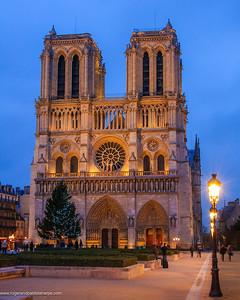 Notre Dame Cathedral on Ile de la Cite or City Island. Paris. France