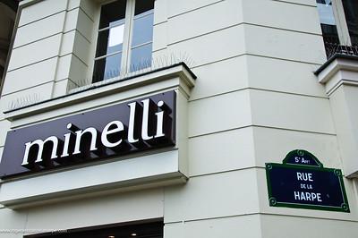 Fashion House sign. Paris. France