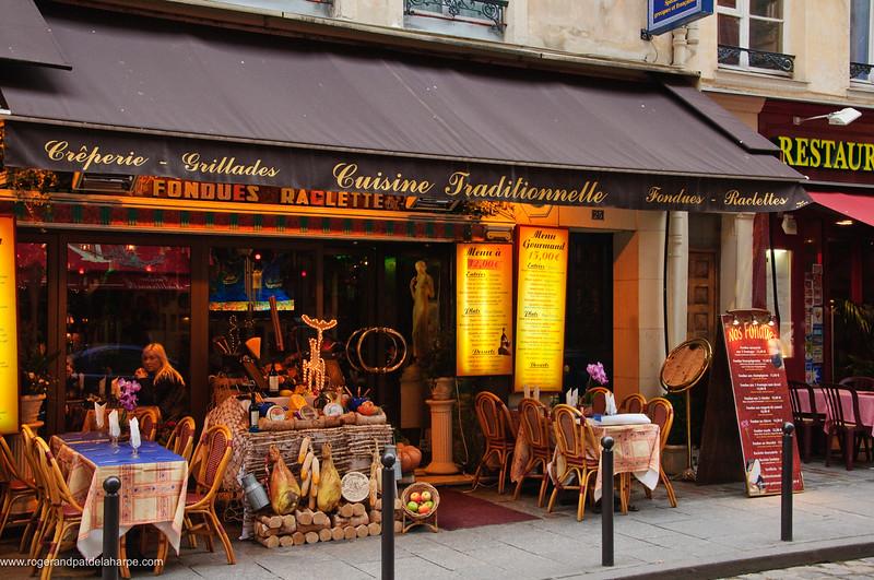 Street scene in the Latin Quarter. Paris. France