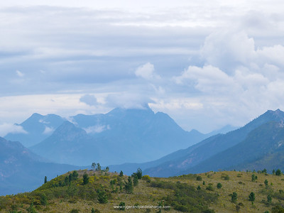 The Outeniqua Mountain range from the old Vortrekker Pass near George. Western Cape. South Africa