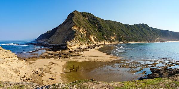 Coastal scene at Gericke's (Gerickes) Point at Swartvlei Beach near Sedgefield. Garden Route. Western Cape. South Africa