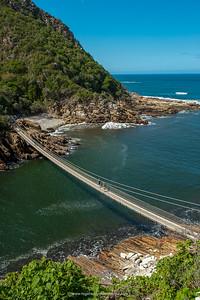 Storms River Suspension Bridge, Tsitsikamma, Garden Route National Park, South Africa